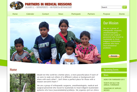 Partners In Medical Missions Website