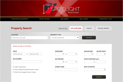 Spotlight Real Estate Website